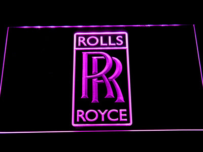 Rolls-Royce LED Neon Sign - Purple - SafeSpecial