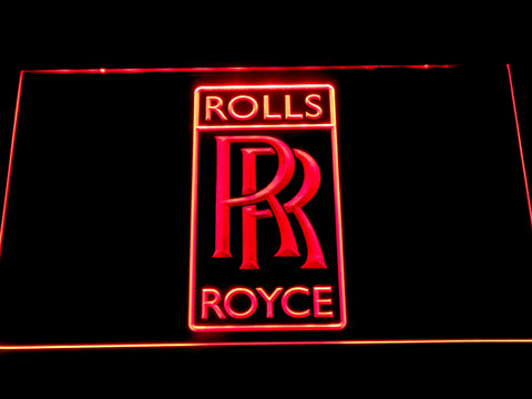 Image of Rolls-Royce LED Neon Sign - Red - SafeSpecial