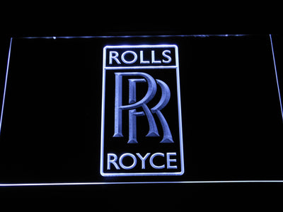 Rolls-Royce LED Neon Sign - White - SafeSpecial