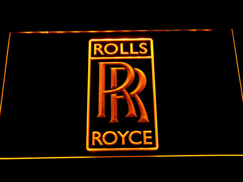 Image of Rolls-Royce LED Neon Sign - Yellow - SafeSpecial