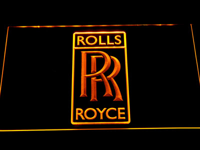 Rolls-Royce LED Neon Sign - Yellow - SafeSpecial