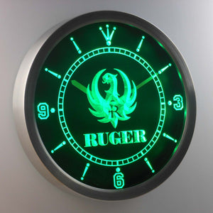 Ruger LED Neon Wall Clock - Green - SafeSpecial