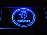 Saab Emblem LED Neon Sign - Blue - SafeSpecial