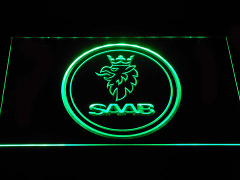 Saab Emblem LED Neon Sign - Green - SafeSpecial
