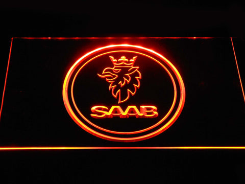 Saab Emblem LED Neon Sign - Orange - SafeSpecial