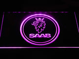 Saab Emblem LED Neon Sign - Purple - SafeSpecial