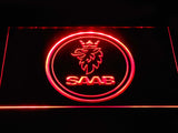 Saab Emblem LED Neon Sign - Red - SafeSpecial