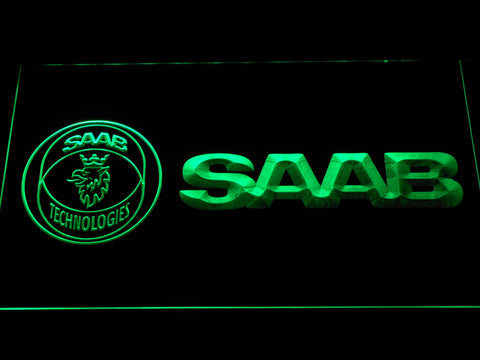 Image of Saab Technologies LED Neon Sign - Green - SafeSpecial