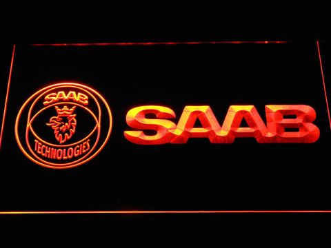 Image of Saab Technologies LED Neon Sign - Orange - SafeSpecial