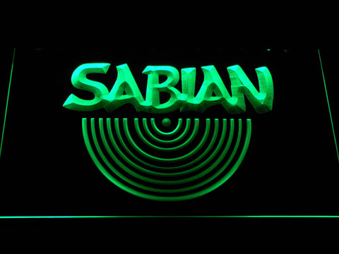 Sabian LED Neon Sign - Green - SafeSpecial