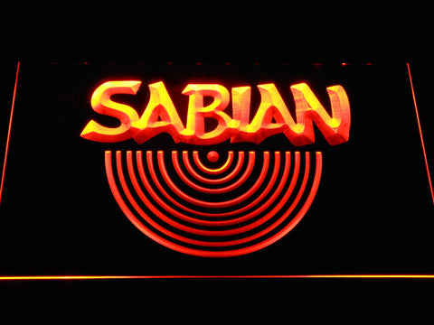 Sabian LED Neon Sign - Orange - SafeSpecial