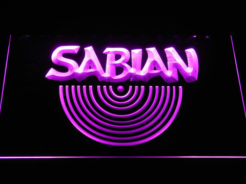 Sabian LED Neon Sign - Purple - SafeSpecial