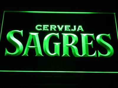 Sagres LED Neon Sign - Green - SafeSpecial