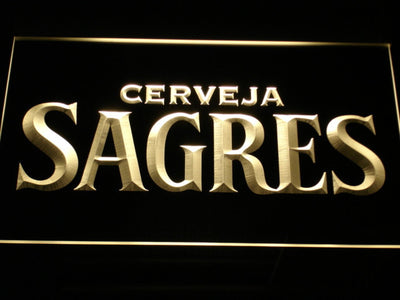 Sagres LED Neon Sign - Yellow - SafeSpecial