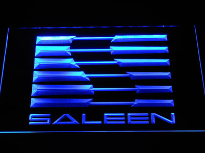 Saleen LED Neon Sign - Blue - SafeSpecial