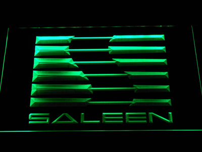 Saleen LED Neon Sign - Green - SafeSpecial