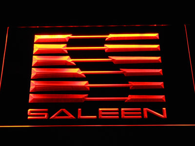 Saleen LED Neon Sign - Orange - SafeSpecial