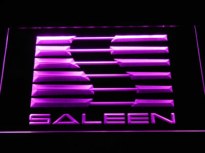 Saleen LED Neon Sign - Purple - SafeSpecial