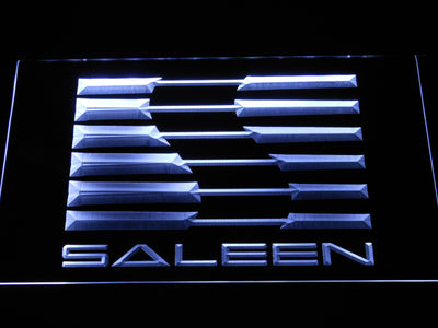 Saleen LED Neon Sign - White - SafeSpecial