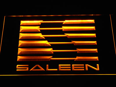 Saleen LED Neon Sign - Yellow - SafeSpecial