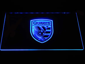 San Jose Earthquakes LED Neon Sign - Blue - SafeSpecial