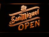 San Miguel Open LED Neon Sign - Orange - SafeSpecial