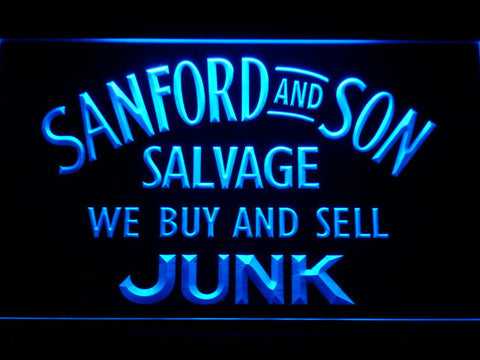Image of Sanford and Son Junkyard LED Neon Sign - Blue - SafeSpecial