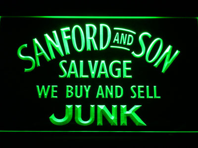 Sanford and Son Junkyard LED Neon Sign - Green - SafeSpecial