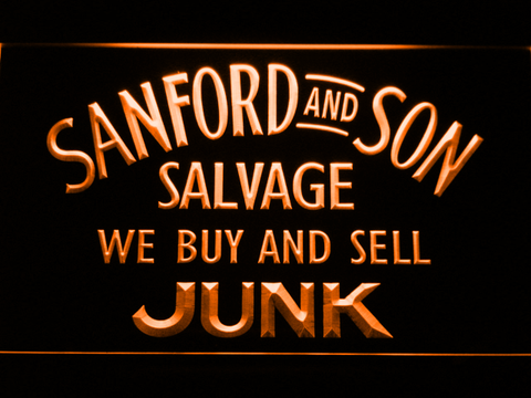 Image of Sanford and Son Junkyard LED Neon Sign - Orange - SafeSpecial