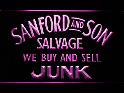 Image of Sanford and Son Junkyard LED Neon Sign - Purple - SafeSpecial
