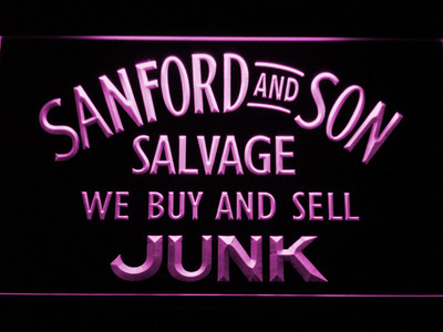 Sanford and Son Junkyard LED Neon Sign - Purple - SafeSpecial