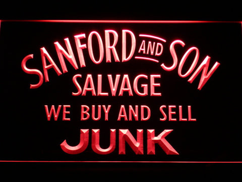 Image of Sanford and Son Junkyard LED Neon Sign - Red - SafeSpecial