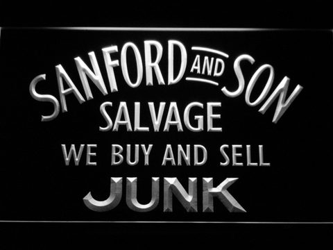 Image of Sanford and Son Junkyard LED Neon Sign - White - SafeSpecial