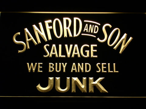 Image of Sanford and Son Junkyard LED Neon Sign - Yellow - SafeSpecial
