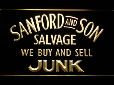 Sanford and Son Junkyard LED Neon Sign - Yellow - SafeSpecial