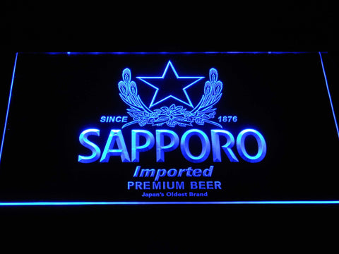 Image of Sapporo LED Neon Sign - Blue - SafeSpecial