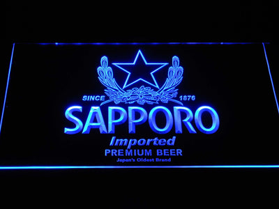 Sapporo LED Neon Sign - Blue - SafeSpecial