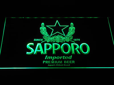 Sapporo LED Neon Sign - Green - SafeSpecial