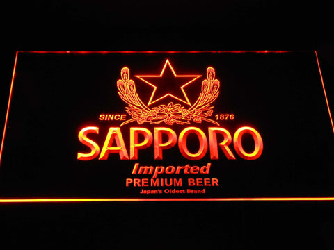 Image of Sapporo LED Neon Sign - Orange - SafeSpecial