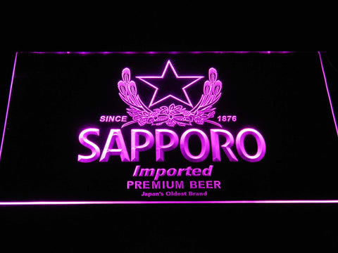 Image of Sapporo LED Neon Sign - Purple - SafeSpecial