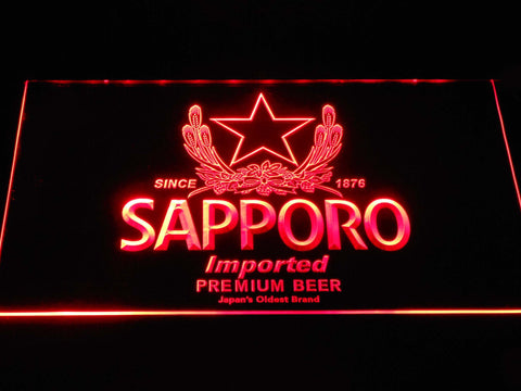 Image of Sapporo LED Neon Sign - Red - SafeSpecial