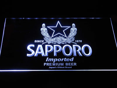 Sapporo LED Neon Sign - White - SafeSpecial