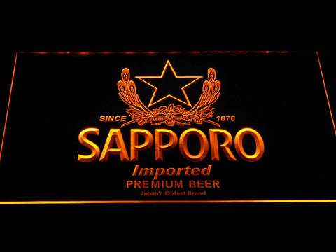 Image of Sapporo LED Neon Sign - Yellow - SafeSpecial