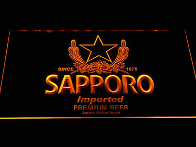 Sapporo LED Neon Sign - Yellow - SafeSpecial