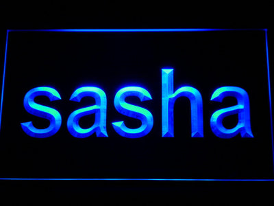Sasha LED Neon Sign - Blue - SafeSpecial