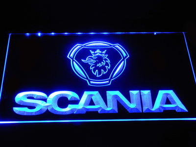 Scania Wordmark LED Neon Sign - Blue - SafeSpecial