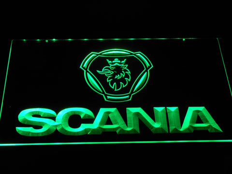 Image of Scania Wordmark LED Neon Sign - Green - SafeSpecial