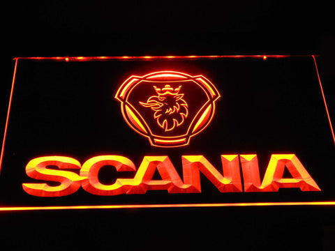 Image of Scania Wordmark LED Neon Sign - Orange - SafeSpecial