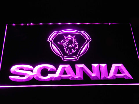 Image of Scania Wordmark LED Neon Sign - Purple - SafeSpecial