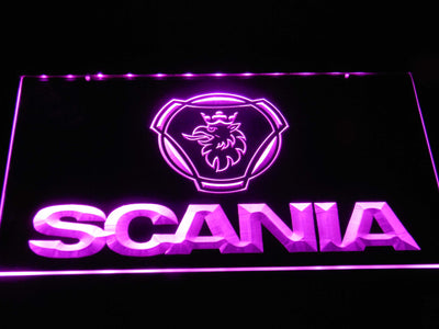 Scania Wordmark LED Neon Sign - Purple - SafeSpecial